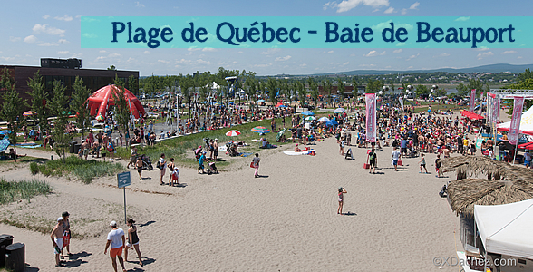 La plage de la Baie de Beauport prte pour lt 2013