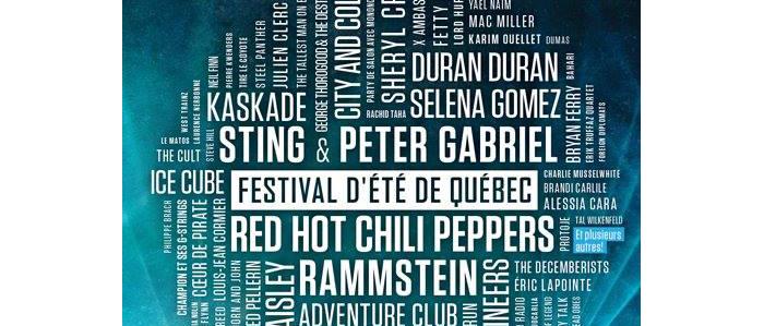 programmation du Festival d'été de Québec