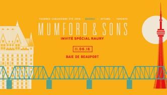 Mumford & Sons à Québec le 11 juin prochain!