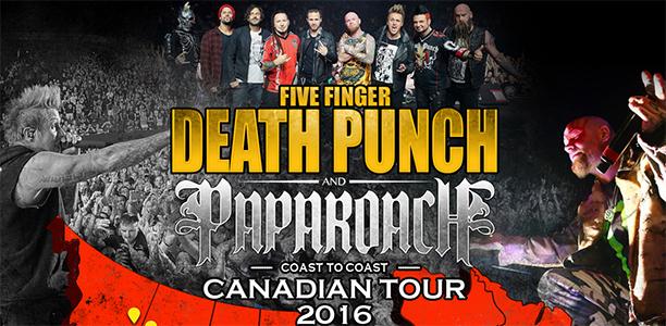 Five Finger Death Punch et Papa Roach à Québec